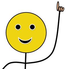 Melden, farbig - Klassenregel, Gesprächsregel, Melderegel, aufzeigen, melden, Zeigefinger, Hand, Finger, Wortmeldung, Bildkarte, Impulskarte, Organisation, Smiley