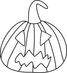 Kürbis - Kürbis, Halloween, Gesicht, Fratze, gruselig, gruseln, Jack O'Lantern, Anlaut K, Herbst, Jahreszeit