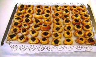 Lammschiffchen#1 - Lammschiffchen, Blätterteig, Lammhackfleisch, Fingerfood, Häppchen