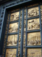 Die Paradiespforte - Tür, Architektur, Bronze, Ghiberti, Florenz, Relief, Vorrenaissance, Portal, Tor