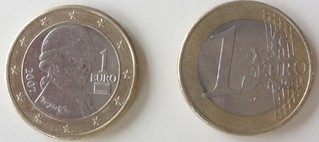 Mozartmünze - Münze, Euro, Mozart, Österreich, Gemälde, Barbara Krafft, Krafft, Musiker