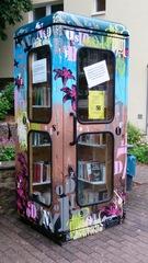 Bücherbox #1 - Offener Bücherschrank, Büchertausch, Bücher, lesen, tauschen, Austausch, leihen, sozial, gebraucht, Austauschbibliothek, Austauschbücherei, Straßenbibliothek, Straßenbücherei, Bücherbox