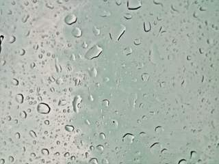 Tropfen - Hintergrund für Präsentation - Wassertropfen, Tropfen, hell, Hintergrund, Wallpaper, Layout, Wasser, Wetter, Regen, Niederschlag, Adhäsion, Kohäsion, Physik, benetzend, flüssig, kugelförmig, Flüssigkeit, spritzer, spritzen, drop, nass, tropfnass
