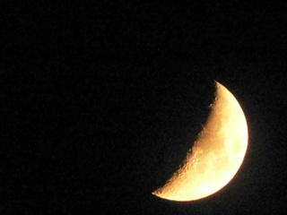 Halbmond - Halbmond, Mond, Nacht, Gestirn, Mondphase, leuchten, Licht, Astronomie, Himmelskörper, zunehmend, beleuchtet, reflektieren, Physik, Schatten
