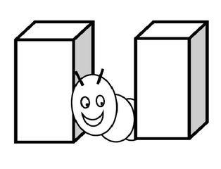 Präposition: zwischen, between, entre - Raupe, Würfel, kriechen, Präposition, preposition, préposition, zwischen, between, entre