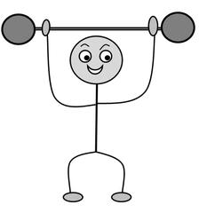 Verb: heben / lift - Verb, Illustration, Zeichnung, heben, lift, clipart, Bildkarte