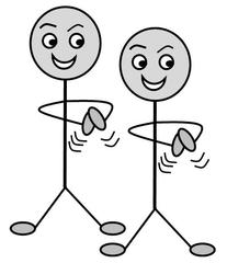 Verb: klatschen / clap - Verb, Illustration, Zeichnung, klatschen, clap, clipart, Bildkarte