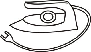 Bügeleisen - Bügeleisen, bügeln, Wäsche, Haushalt, Anlaut B