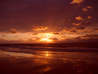Sonnenuntergang - Sonnenuntergang, Meer, Sehnsucht, Traum, Natur, Himmel, Horizont, Dämmerung, Abendrot
