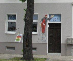 Trompe l'Oeil an einem Haus - Trompe l'Oeil, Malerei, Wandmalerei, Haus