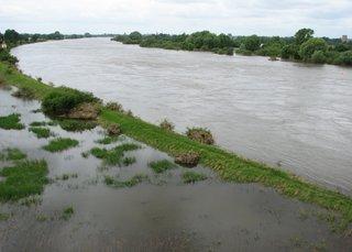 Hochwasser der Elbe #1 - Hochwasser, Deich, Überflutung, Überschwemmung, Elbe