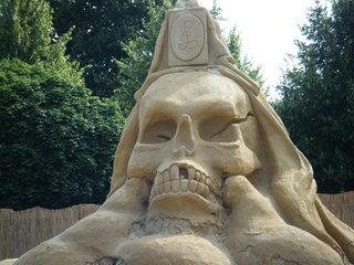 Skulptur aus Sand #1b - Skulptur, Sand, Sandskulptur, Kunst, Kunstwerk, Bildhauerei