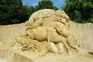 Skulpturen aus Sand #4b - Skulptur, Sand, Sandskulptur, Kunst, Kunstwerk, Bildhauerei