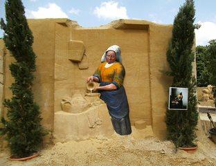 Skulpturen aus Sand #11 - Skulptur, Sand, Sandskulptur, Kunst, Kunstwerk, Bildhauerei