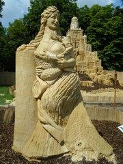 Skulptur aus Sand #12b - Skulptur, Sand, Sandskulptur, Kunst, Kunstwerk, Bildhauerei