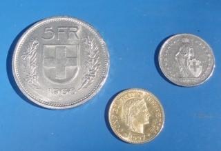 Schweizer Münzen - Schweiz, Münze, Wappen, Helvetia, Libertas, Franken, Rappen