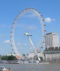 London Eye - London, Sightseeing, Themse, London Eye, Riesenrad, Eye, Millennium Wheel, Umdrehung, Rad, Kreis, Speichen, England, Konstruktion, Gondel, Sehenswürdigkeiten, Sight, Durchmesser