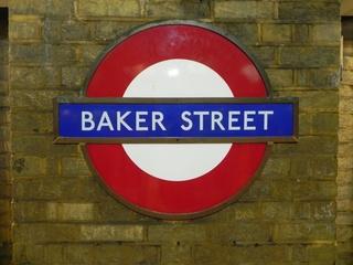U-Bahn Schild - U-Bahn, Transport, Schild, Sign, Baker Street, London, Tube, Sherlock Holmes, Underground