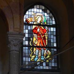Heiliger Georg - Georg, Heiliger, Domfenster, Glasfenster, Kirche, Kirchenraum, Kirchenfenster, Märtyrer, Nothelfer, Drachen, Legende