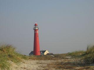 Leuchtturm - Leuchtturm, Leuchtfeuer, Insel, Meer, Seezeichen, rot, Himmel, Düne