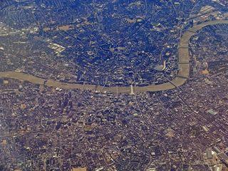 London - Luftaufnahme - London, Hauptstadt, Königreich, England, Großbritanien, Themse