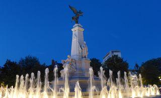 Place de la République - Place, république, place de la république, Dijon, fontaine, jets d'eau