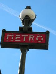 Métro Paris - Paris, métro, U-Bahn, panneau, Schild