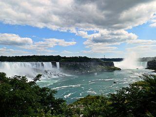 Niagara Falls 2# - Niagarafälle, Wasserfall, Wasser, Fluß, Naturschauspiel, Canada, Kanada, USA, Touristenattraktion, Natur