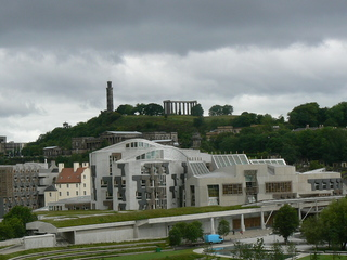 Schottisches Parlamentsgebäude - Schottland, Parlament, Edinburg, Gebäude, Caltin Hill, Aussichtspunkt, Architektur, Wetter, Modell, weiß, Fassade