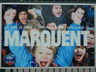 affiche FFF#1 - Frankreich, affiche, football, Fussball, Plakat, FFF, rêver, marquer