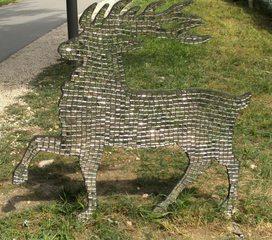 Waldtiere  aus Recyclingmaterial #6 - Objektkunst, Tier, Waldtier, Recyclingmaterial