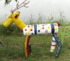 Waldtiere  aus Recyclingmaterial #4 - Objektkunst, Tier, Waldtier, Recyclingmaterial