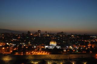 Jerusalem bei Nacht - Religion, Christentum, Judentum, Islam, Jesus, Jerusalem, Moschee, Nacht, Lichter, Tempelberg