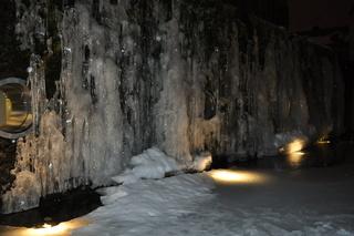 Eiskalter Wasserfall - Eis, Wasser, Wasserwand, Winter, gefroren, Schnee, kalt