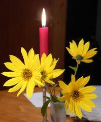 Kerze - Kerze, Blume, Licht, Kerzenschein, Meditation, Schreibanlass
