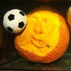 Kürbisgeist #2 - Kürbis, Gemüse, Herbst, orange, Halloween, Horror, erschrecken, Gesicht, Jahreszeit, Kürbisgeist, schnitzen, gruselig