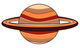 Planet mit Ring_bunt - Planet, Ring, Himmelskörper, Himmel, Weltall, Universum, Astronomie