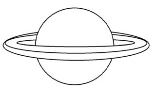 Planet mit Ring_Vorlage - Planet, Ring, Himmelskörper, Himmel, Weltall, Universum, Astronomie, Kugel, Mathematik