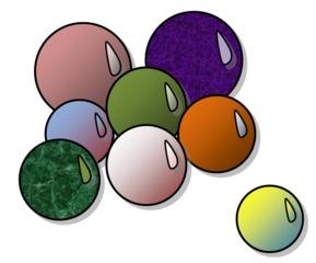 Murmeln - Murmeln, Murmel, Glas, rund, spielen, Spiel, Bucker, Datzer, Dötze, Duxer, Glaser, Heuer, Illern, Klickern, Knicker, Marbeln, Marmeln, Märbeln, Schnellern, Schussern, Üllern, Wetzel, Menge, wenig, viel, bunt, Farbe, farbig, acht, Anlaut M, Kugel, Körper