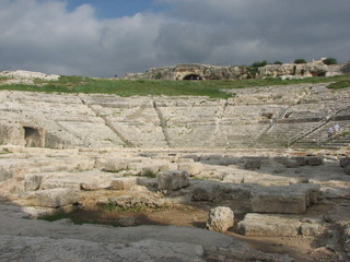 Syrakus - Teatro Greco # 1 - Sizilien, Syrakus, Siracusa, Antike, Theater, Archäologie, Sektor, Kreissektor