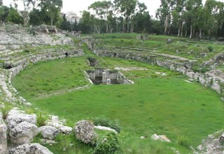 Syrakus - Amfiteatro Romano # 1 - Sizilien, Syrakus, Amphiteater, Antike, Archäologie
