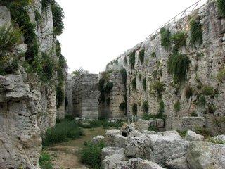 Syrakus - Castello Euriato # 2 - Syrakus, Siracusa, Graben, römisches Kastell, Archäologie