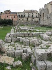 Syrakus - Apollotempel # 2 - Sizilien, Syrakus, Siracusa, Tempel, griechisch, Antike, Archäologie, Quader, Steinquader