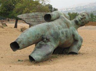 Agrigent - Ikaro Caduto (Der gefallene Ikarus) - Ikarus, Sage, Bronze, gefallen, Plastik, griechisch