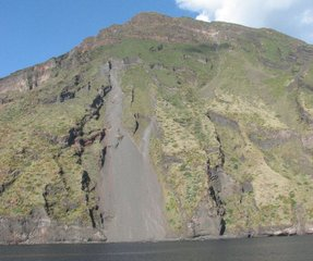 Stromboli - Lavarutsche # 1 - Stromboli, Lava, Vulkan, Vulkanismus
