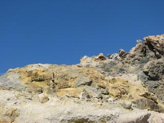 Vulcano - Schwefelstein - Vulkan, Schwefel, vulkanisches Gestein, Schwefel, sublimieren, Sublimation, Schwefeldämpfe, Aggregatzustand, Chemie