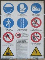Diverse Hinweisschilder italienisch - Hinweis, Schild, italienisch