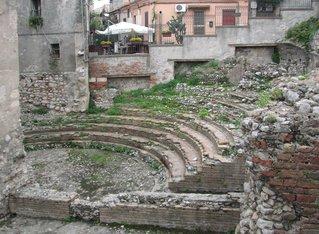 Taormina - Odeon - Theater, römisch, Ruine, Archäologie, verfallen, Taormina, Sizilien