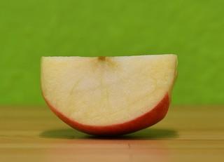 Apfel #5 - Apfel, Fruchtfleisch, Apfelspalte, Obst, Kernobst, Ernährung, ernähren, essen
