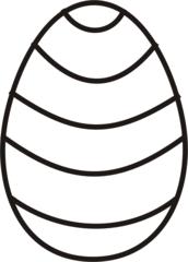Osterei 5 - Ei, Eier, Osterei, Streifen, Muster, Ostern, Anlaut Ei, Anlaut O